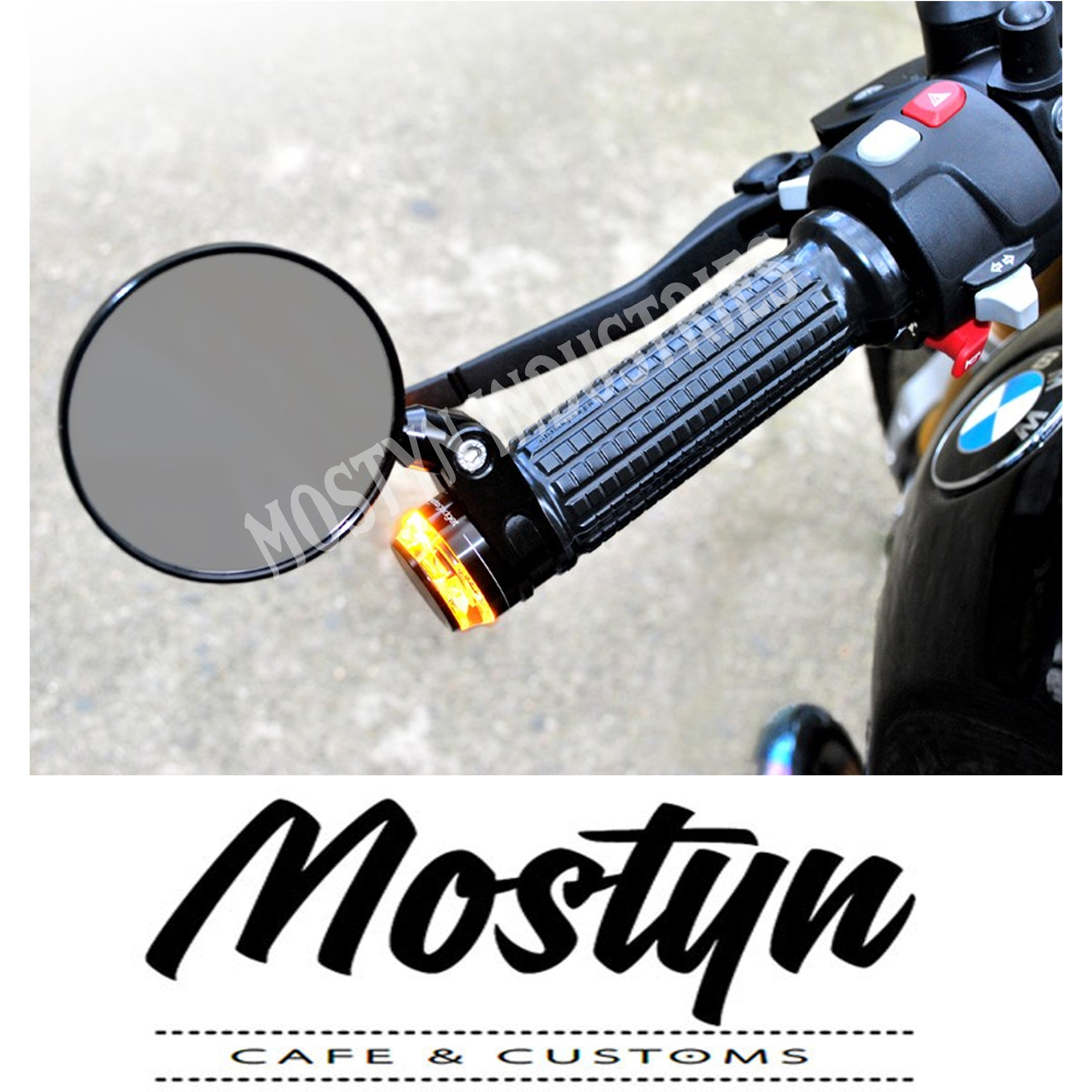 Motogadget m-Rear 75mm Bar End Clip On Mirrors 1 inch